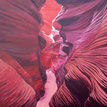 Wielki Kanion,70x120cm, akryl na płótnie, 2015.