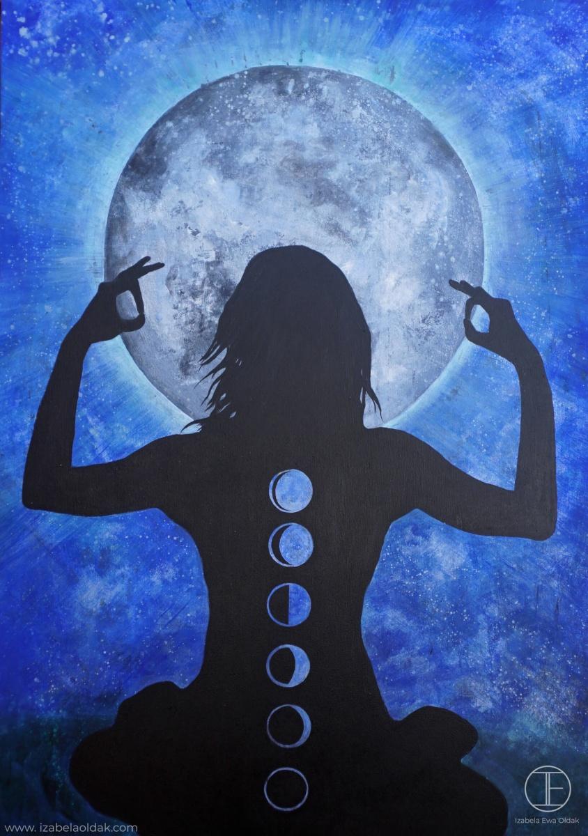 3 Full Moon Celebration, 100x70cm, acrylic on canvas 2016 kopia