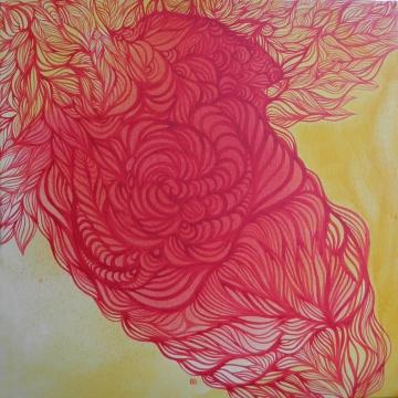 Spełnienie, dyptyk, 50x50cm, akryl, ekolina na płótnie, 2011.