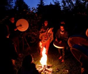 Ceremonia karmienia Ognia, Roczny Kurs Szamański 2021